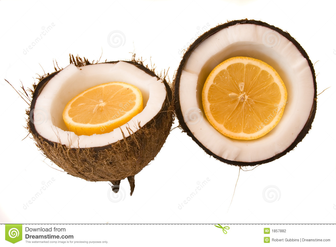 Orange Coconut Stock Photography.