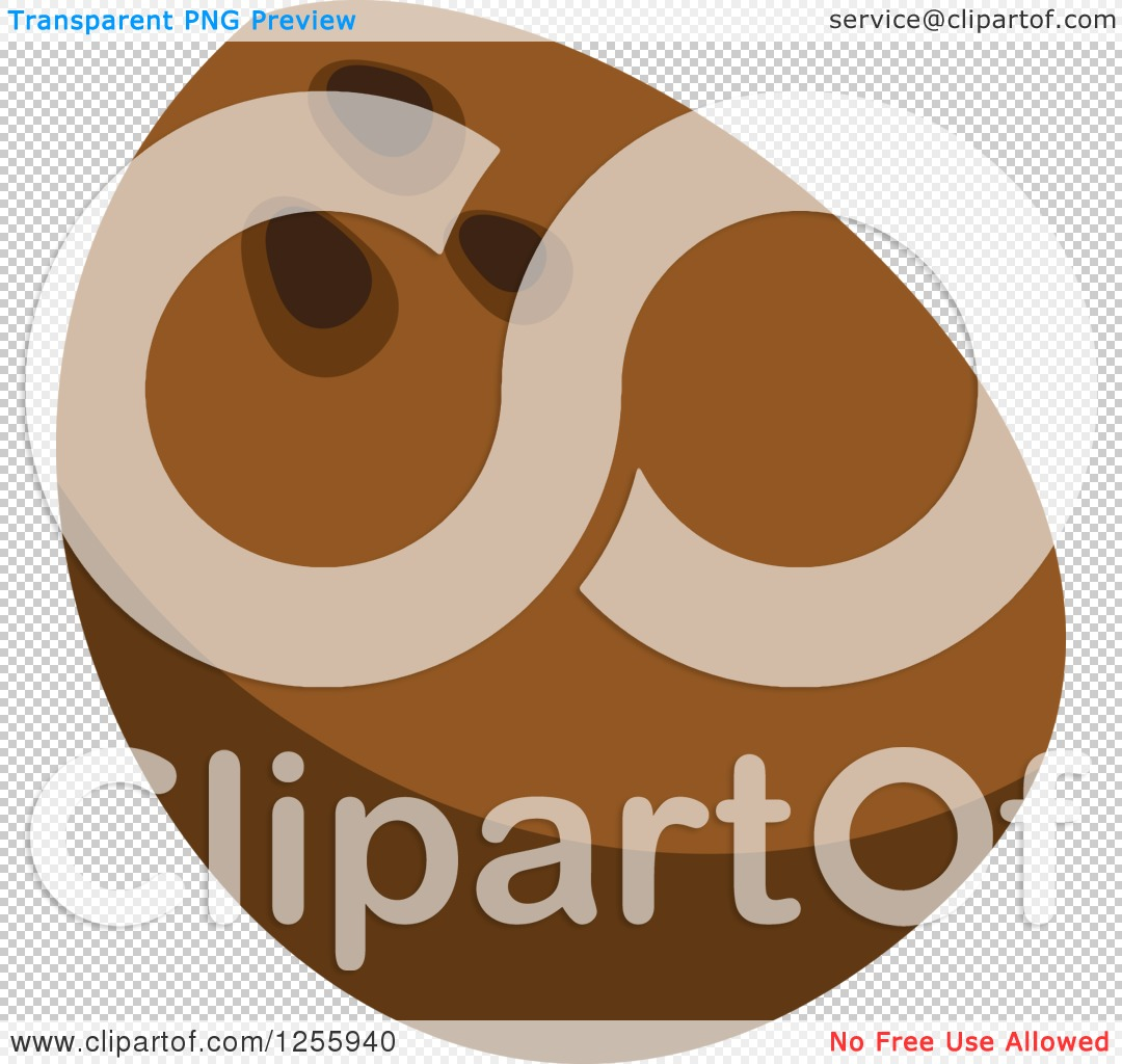 Clipart of a Tropical Coconut Fruit.