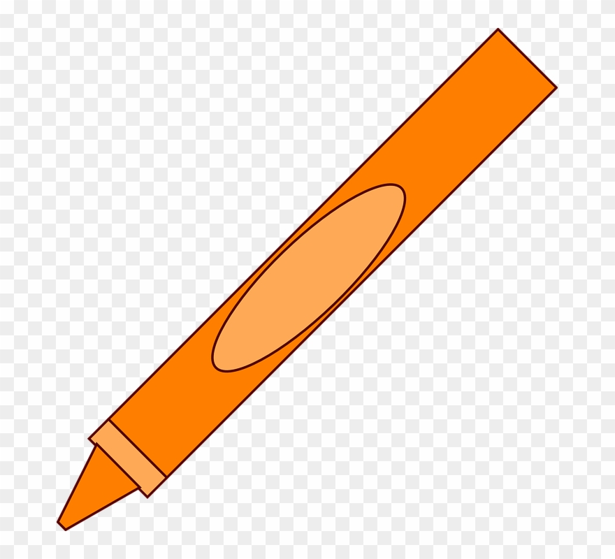 Orange Crayon Clipart Free Images.