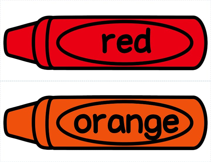 Red and orange crayons illustration collage, Crayon Red.