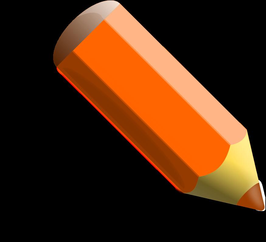 Clipart Orange Crayon.