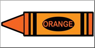 Orange Crayon Clipart.