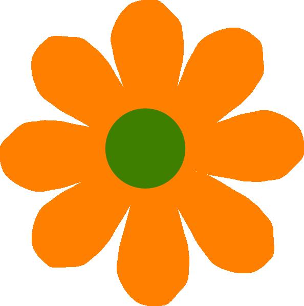 Orange Flower Clip Art at Clker.com.