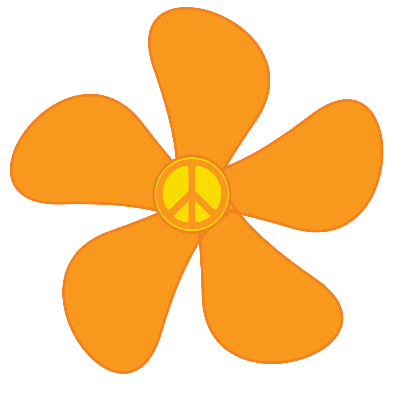 Orange Daisy Clipart.