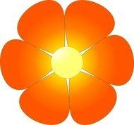Orange Gerber Daisy Clip Art Download 759 clip arts (Page 1.