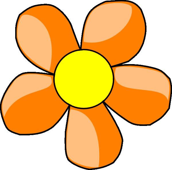 Orange Daisy Clip Art at Clker.com.