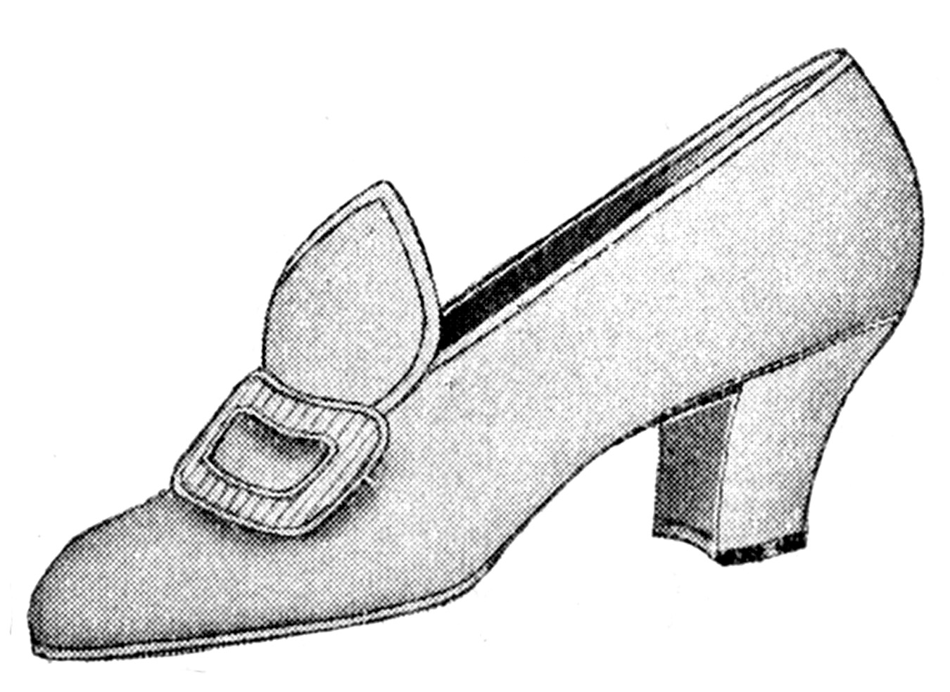Ladies Orange Dress Shoes Clipart.