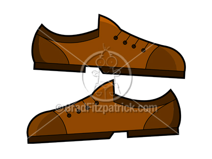 Orange Dress Shoes Clipart.