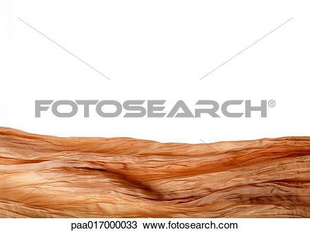 Stock Photo of Wrinkled orange fabric paa017000033.