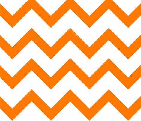 Orange Chevron pattern fabric.