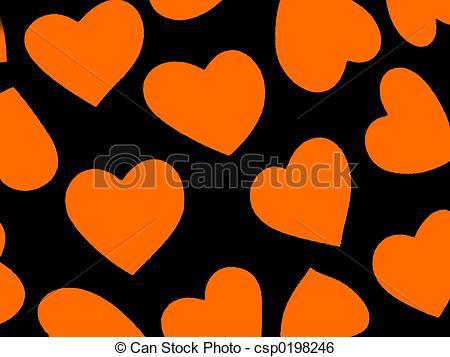 Stock Illustration of Heart Background Ora.