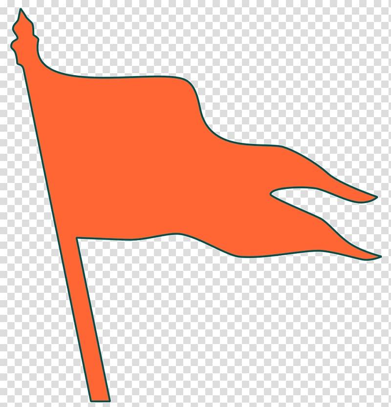 Orange flag illustration, Maharashtra Maratha Empire Flag.