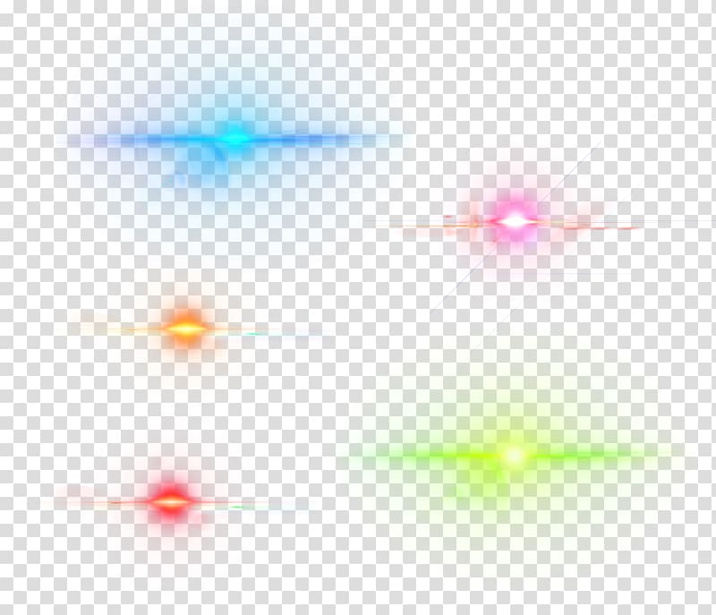 Blue, pink, green, orange, and red lights illustration, Lens.