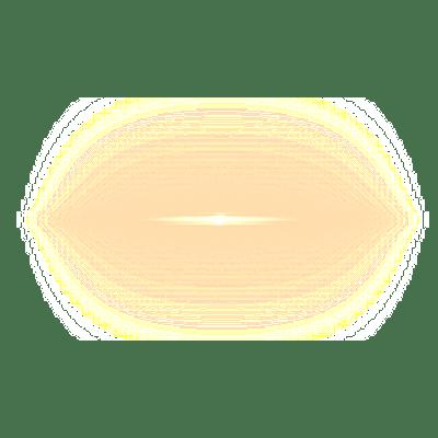 Small Orange Lens Flare transparent PNG.