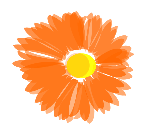 Blurry Orange Flower Clip Art at Clker.com.