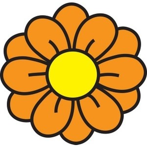Orange flower clip art.