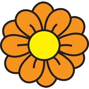 Orange flower clip art.