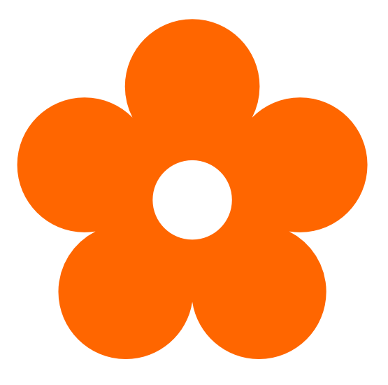 Orange Flowers Clip Art.
