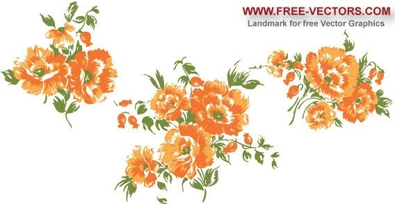 Orange flower clip art free vector download (210,812 Free vector.