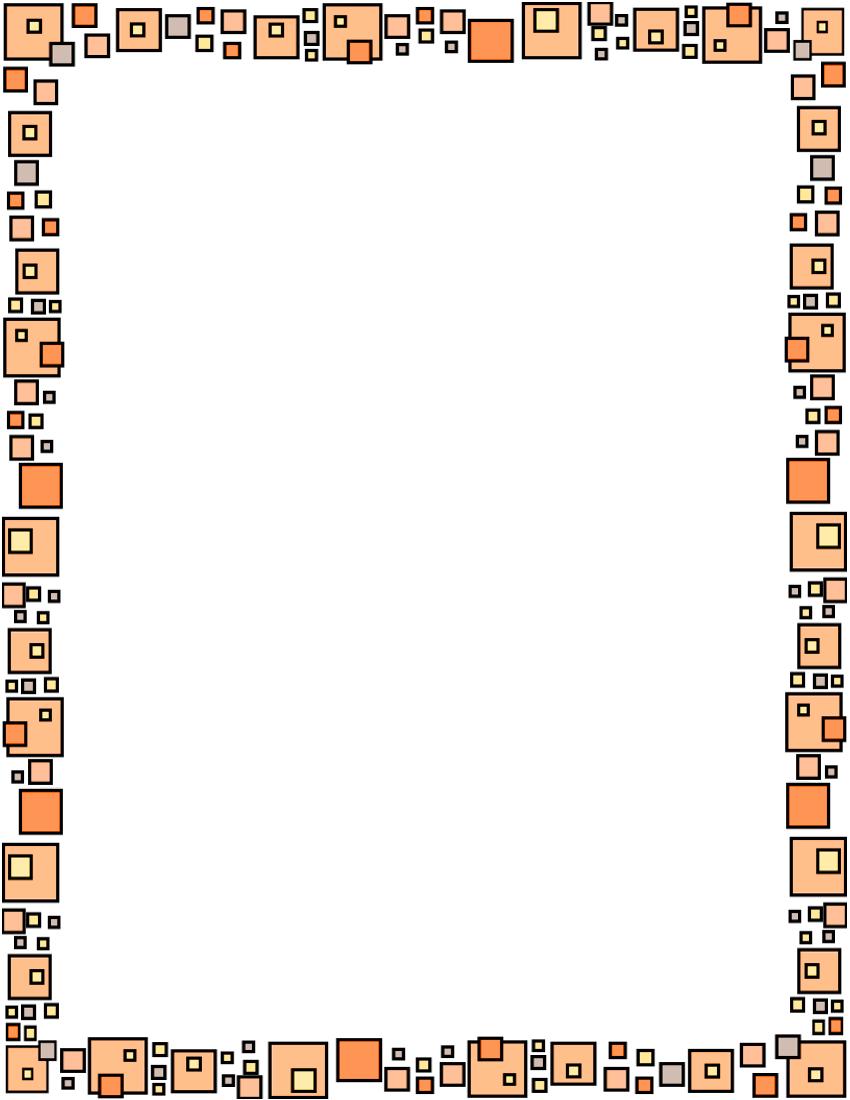 Boxes Frame Orange Clip Art Download.