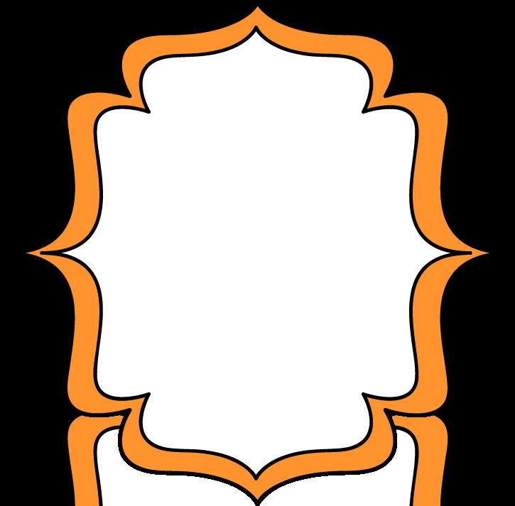 Orange frame clipart.