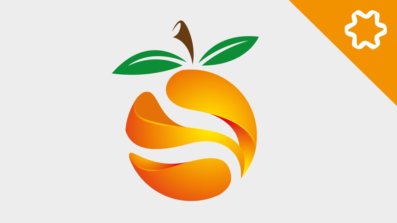 Illustrator Logo Design Tutorial / Orange 3D Logo Design / How to Design 3D  Logo Design.