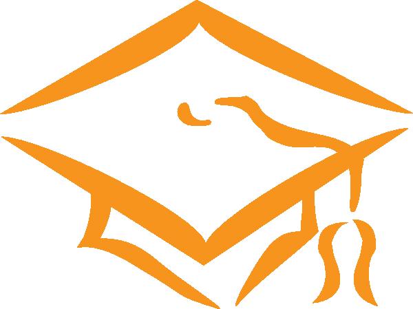 Graduation Orange Hat Clip Art at Clker.com.