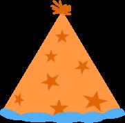 Orange Party Hat Clip Art.