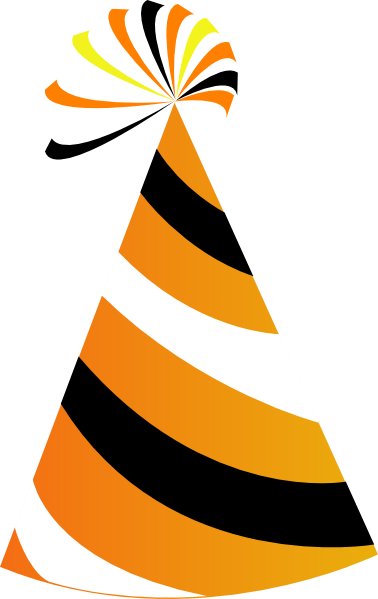 Orange And White Party Hat Clip Art at Clker.com.