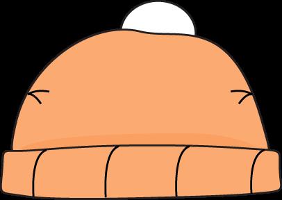 Orange Winter Hat Clip Art.