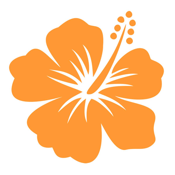 Hawaii Hibiscus Flower Cuttable Design.
