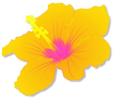Luau Flower Clip Art.