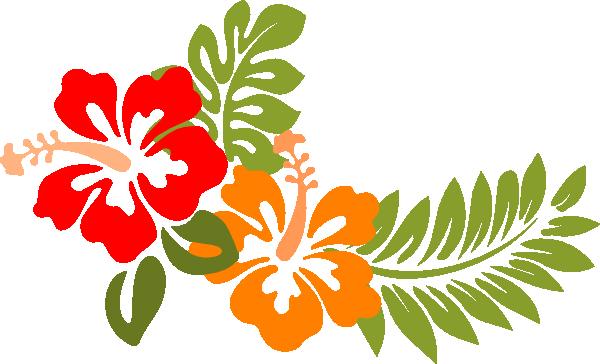 Orange Hawaiian Flower Clipart.