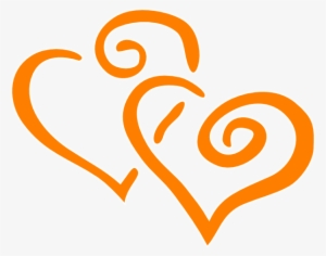 Orange Heart PNG, Transparent Orange Heart PNG Image Free.