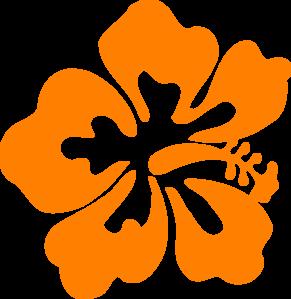 Orange Hibiscus Clipart.