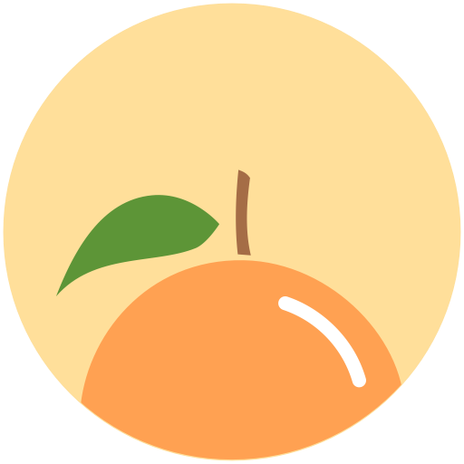 Citrus, food, health, nutrition, orange icon.