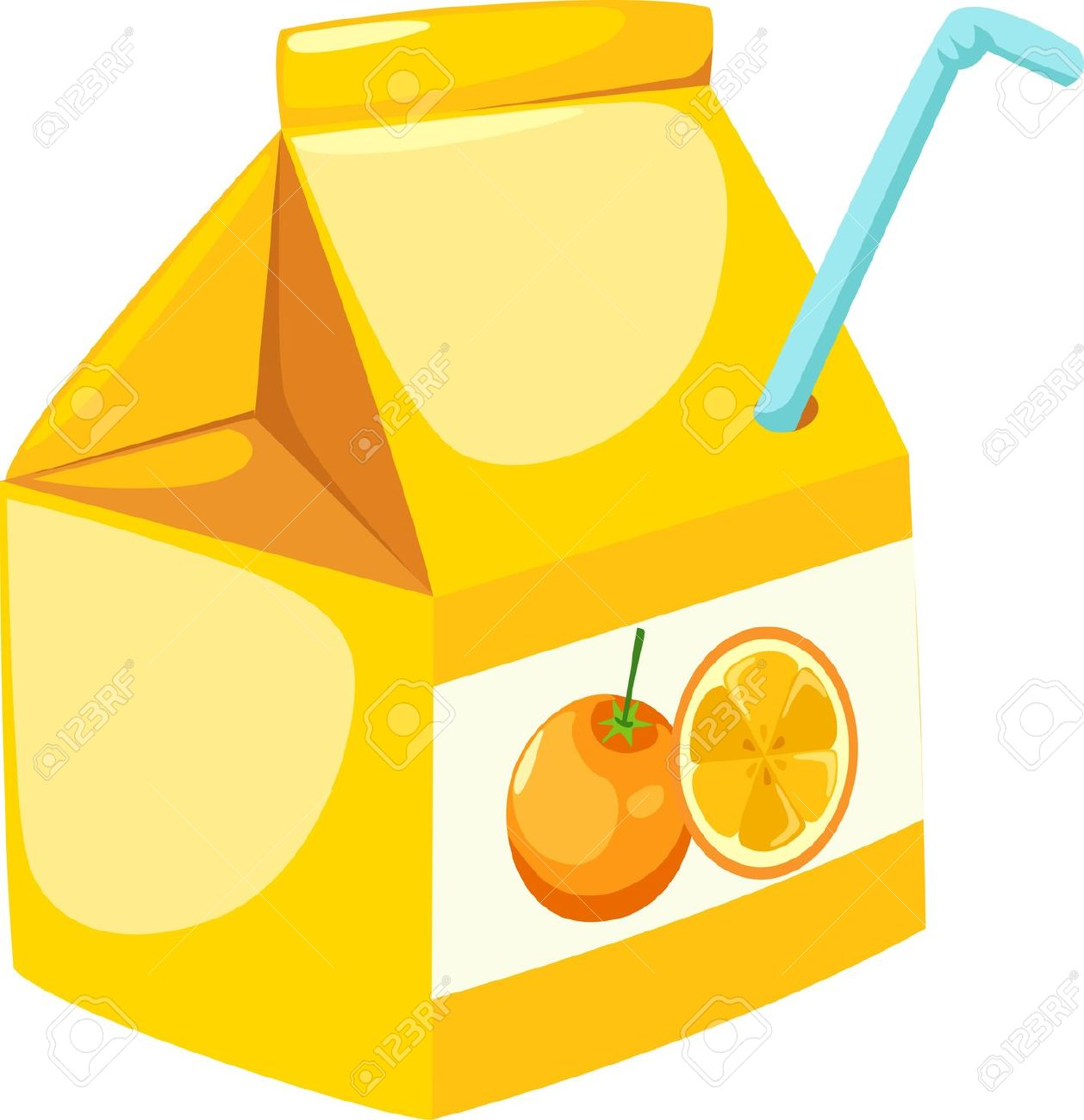 Orange Juice Bottle Clipart.