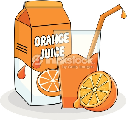Orange juice carton clipart.