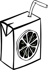 Orange Juice Clipart Black And White.