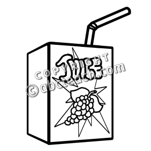 Juice Clipart Black And White.