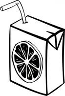 Fruit Juice Clipart Black And White.