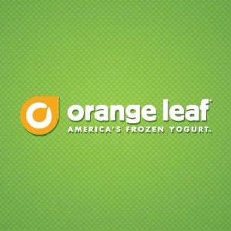Orange Leaf Frozen Yogurt Logo.