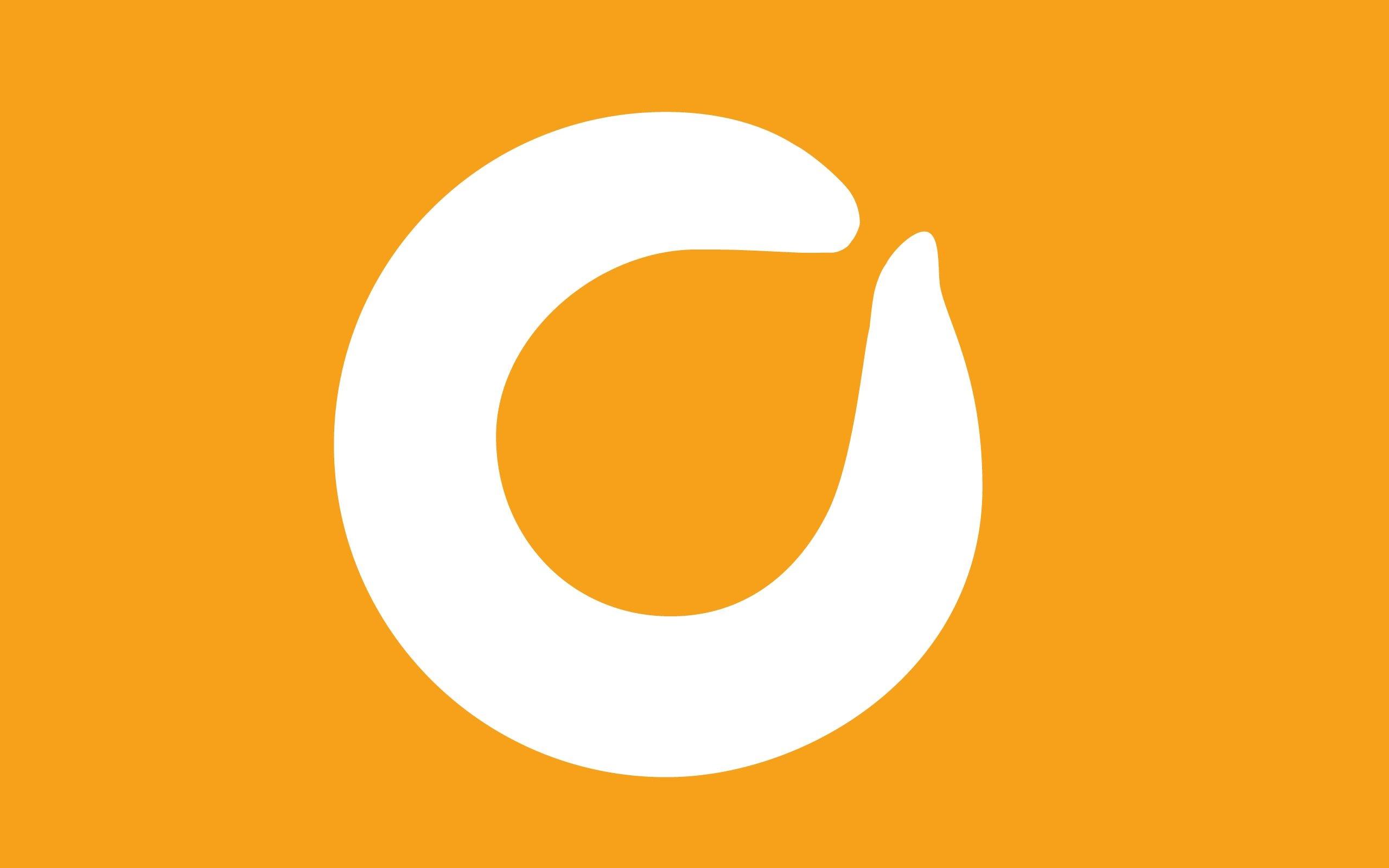 Download wallpaper 2560x1600 orange leaf frozen yogurt, logo.