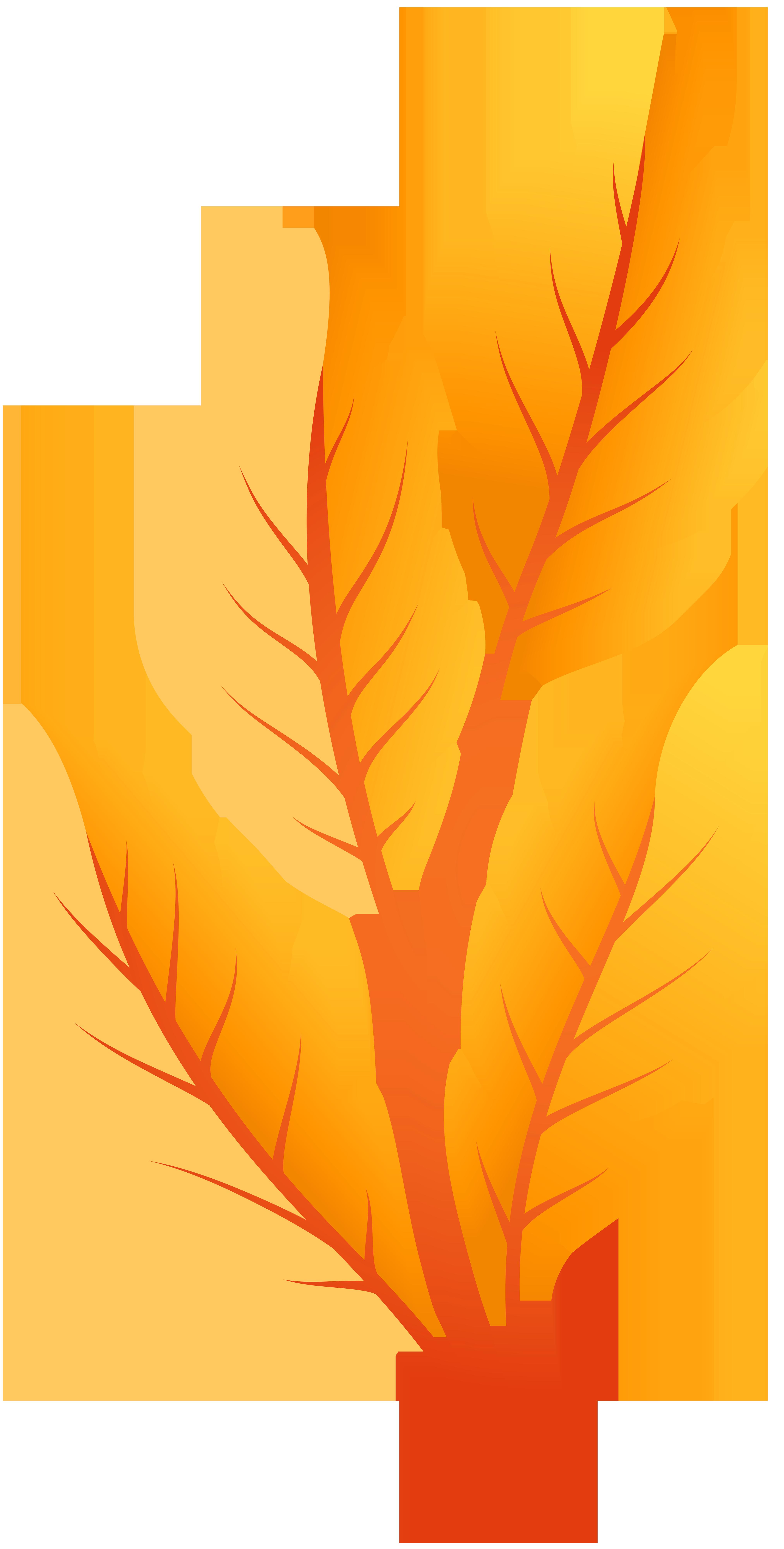 Orange Autumn Leaves PNG Clip Art.