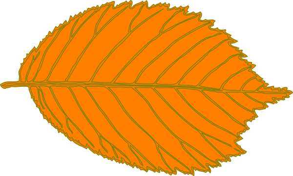Orange leaf clip art.