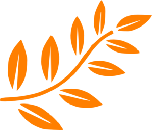 Orange Leaf Branch Clip Art at Clker.com.