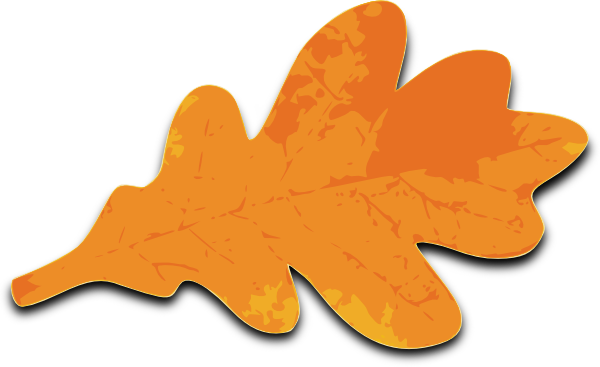 Orange Leaves Clip Art.