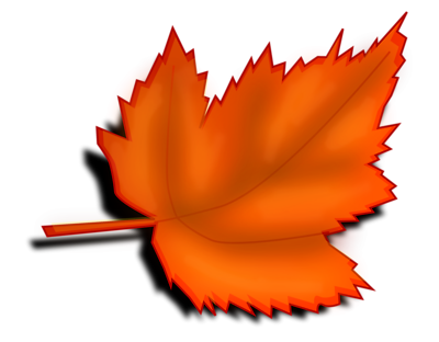 Orange autumn leaves clipart transparent background.