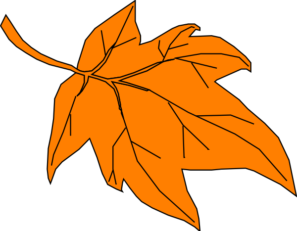 Orange Autumn Leaf Clip Art at Clker.com.