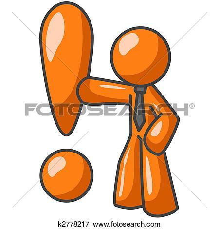 Stock Illustration of Orange Man Injured k2778026.